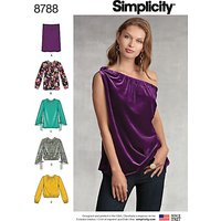 Simplicity Women's Tops Sewing Pattern, 8788