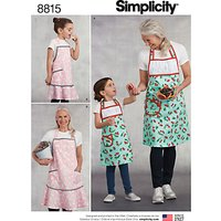 Simplicity Women's and Children Matching Aprons Sewing Pattern, 8815, A