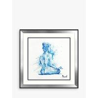 Joanne Boon Thomas - Peace Framed Print & Mount, 90.5 x 90.5cm, Blue
