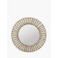 shop for Libra Aurora Round Wall Mirror, Antique Silver/Gold, Dia.60cm at Shopo