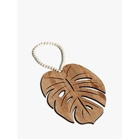 John Lewis & Partners Leaf with Beads Hanging Decoration, Large