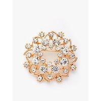 shop for John Lewis & Partners Vintage Crystal Flower Brooch, Gold at Shopo