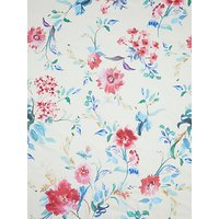 John Kaldor Painted Flowers Print Fabric, White/Multi