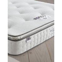 Silentnight Sleep Genius 800 Pocket Eco Comfort Pillowtop Mattress, Firm Tension, Super King Size