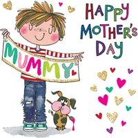 Rachel Ellen Mama-licious Boy Mother's Day Card
