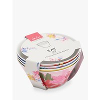 Joules Melamine Floral Print Picnic Bowls, Assorted, Set of 4