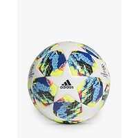 Adidas Uefa Champions League Finale Mini Football, Size 1, White/bright Cyan/solar Yellow/shock Pink