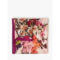 Modern Rarity Gladioli Floral Silk Square Scarf, Pink Mix