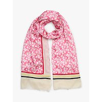 shop for Collection WEEKEND by John Lewis Floral Cotton Blend Scarf, Pink Mix at Shopo