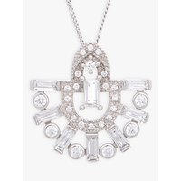 shop for V by Laura Vann Runa Sterling Silver Cubic Zirconia Fan Pendant Necklace, Silver at Shopo