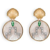 shop for V by Laura Vann Gina Circle Drop Earrings, Gold/Multi at Shopo