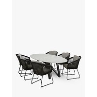 4 Seasons Outdoor Milan 6-Seat Oval Garden Table and Chairs Set