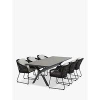 4 Seasons Outdoor Milan 6-Seat Rectangular Garden Table and Chairs Set