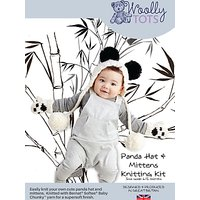 Woolly Tots Baby Panda Hat and Mittens Knitting Kit