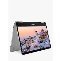 ASUS VivoBook Flip TP401 Laptop, Intel Pentium Silver, 4GB RAM, 128GB SSD, 14 Full HD, Light Grey Metal