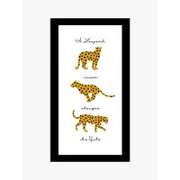 John Lewis & Partners 'Leopard Never Changes Its Spots' Framed Print, 43 x 23cm