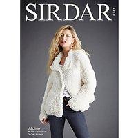 Sirdar Alpine Women's Jacket Knitting Pattern, 8281
