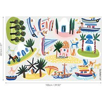 Villa Nova Island Hopping Wall Stickers, Multi, W592/01