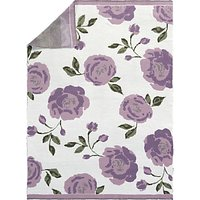 Pottery Barn Kids Meredith Floral Knit Baby Blanket, Lavender