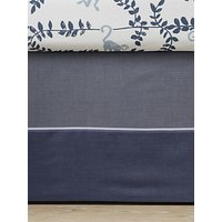 Pottery Barn Kids Easton Sateen Cot Skirt, Navy