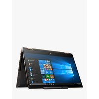 "HP Spectre x360 15-df0004na Convertible Laptop with HP Tilt Pen Stylus, Intel Core i7 Processor, 8GB RAM, GeForce GTX 1050 Ti, 512GB SSD, 15.6"" Full HD, Dark Ash Silver"