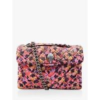 Kurt Geiger Kensington Fabric Shoulder Bag, Orange/Multi
