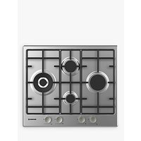 Hoover HHW6D5WMX 60cm Gas Hob, Stainless Steel