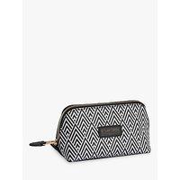Otis Batterbee Downshire Small Makeup Bag, Black/white
