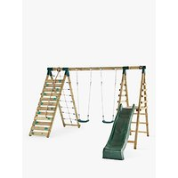 Plum Premium Woolly Monkey II Wooden Swing Set