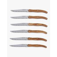Laguiole Steak Knives, Olive Wood, 6 Piece