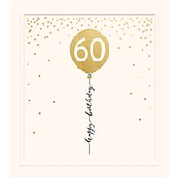 Woodmansterne 60th Balloon Birthday Card