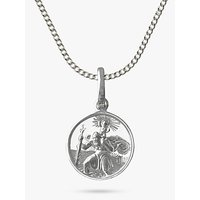 shop for Nina B St Christopher Pendant Necklace, Silver at Shopo