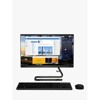 Lenovo IdeaCentre A340 F0EB000VUK All-in-One Desktop PC, Intel i3 Processor, 8GB RAM, 1TB HDD, 21.5 Full HD, Black