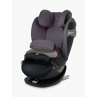 Cybex Pallas S-Fix Group 1/2/3 Car Seat, Premium Black