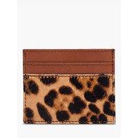 Madewell Leather Calf Hair Card Case, Truffle/multi