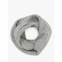 John Lewis and Partners Diamond Lattice Snood, Grey
