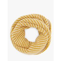 John Lewis and Partners Birds Eye Stitch Snood, Ochre Mix