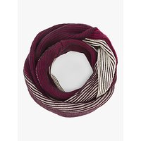 John Lewis and Partners Colour Block Plaited Rib Snood, Pink Mix