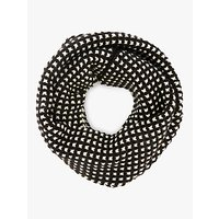 John Lewis and Partners Reversible Grid Stitch Knitted Snood, Black Mix