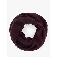 John Lewis and Partners Bubble Stitch Snood, Burgundy