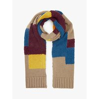 John Lewis & Partners Textured Colour Block Scarf, Multi