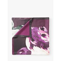 Modern Rarity Antique Bloom Square Silk Scarf, Purple