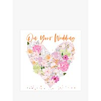 Image of Belly Button Designs Floral Heart Wedding Card