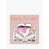 Belly Button Designs Car Happily Ever After Wedding Card
