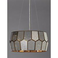 shop for John Lewis & Partners Romy Mirrored Glass Pentagon Ceiling Light, Metallic Silver at Shopo