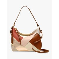 Radley Oxleas Leather Medium Shoulder Bag, Nude/Multi