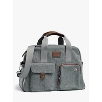 Mamas and Papas Bowling Style Changing Bag with Bottle Holder, Grey Twill