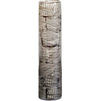 John Lewis and Partners Etched Large Column Vase, Blue, H41cm