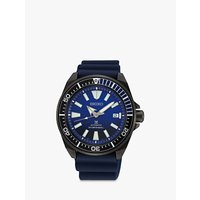 Seiko SRPD09K1 Mens Save The Ocean Date Automatic Silicone Strap Watch, Navy