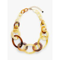 shop for John Lewis & Partners Resin Hoop Necklace, Lime/Tortoise at Shopo